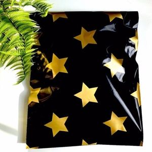 50 gold star designer 6x9 poly mailers